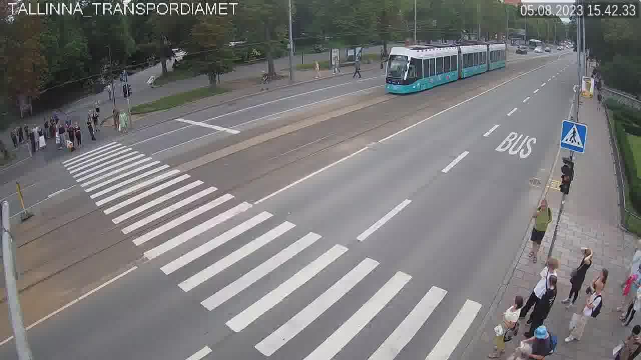 Narva maantee - Uussadama tänav veebikaamera